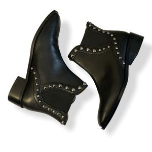 ZARA - leather studded ankle boots